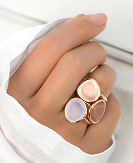 ROSE QUARTZ RING ROSE
