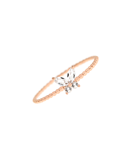 GEMMY BUTTERFLY  Ring Rosé
