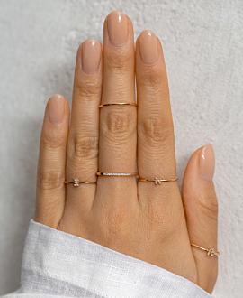 LETTER Ring K  10K Roségold