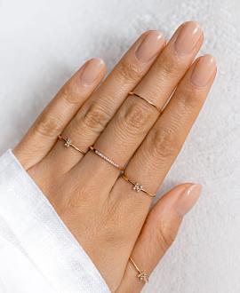 LETTER Ring N  10K Roségold