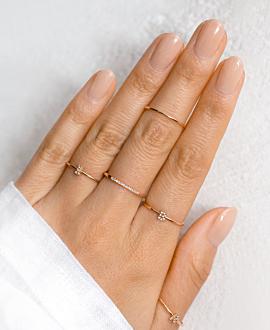 LETTER Ring B  10K Roségold