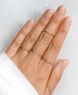 LETTER Ring D  10K Roségold