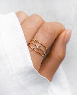 LETTER Ring R  10K Roségold