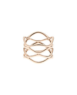 DIAMOND WAVE RING 14K ROSE GOLD