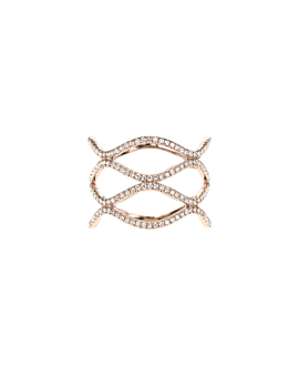 DIAMOND WAVE|Ring 14K Roségold