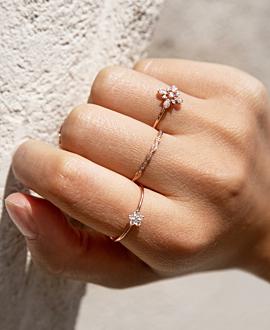 DIAMOND Ring 14K Roségold