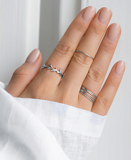 WILD LEAVES  Ring Silber