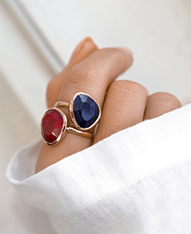 SAPPHIRE RING ROSE