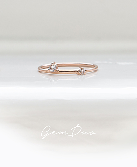 GEM DUO|Ring Rosé