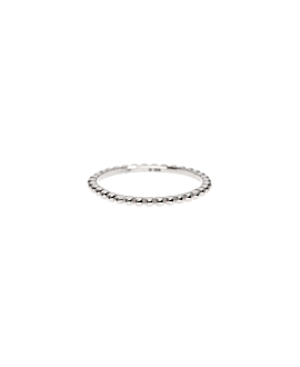TINY BEADS Ring Silber