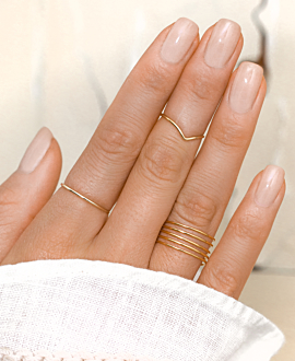BAR  RING GOLD