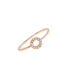 TOPAZ CIRCLE  Ring Rosé