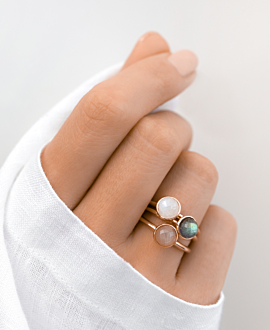 MOONSTONE RING ROSE