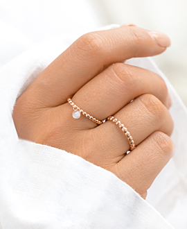 FLYING MOONSTONE  Ring Rosé