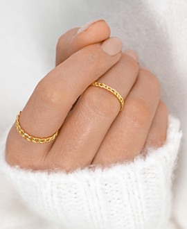 CHAIN LINK Ring Gold