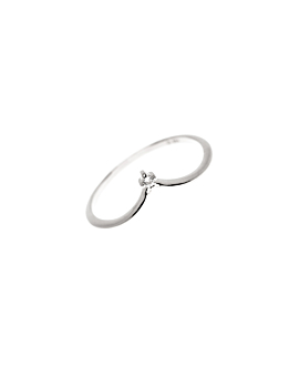 SINGLE TOPAZ|Ring Silber