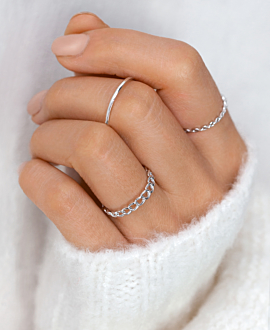 CHAIN LINK Ring Silber