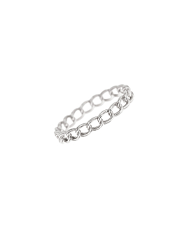 CHAIN LINK|Ring Silber