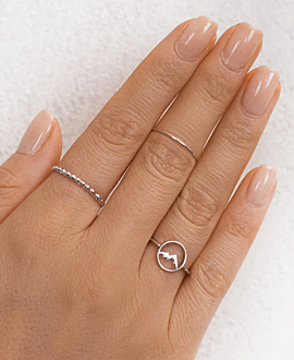 MOUNTAIN  Ring Silber