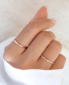 JAGGED Ring Rosé