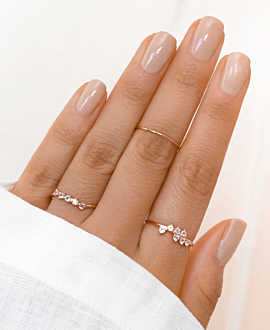 OBLIQUE Ring Rosé