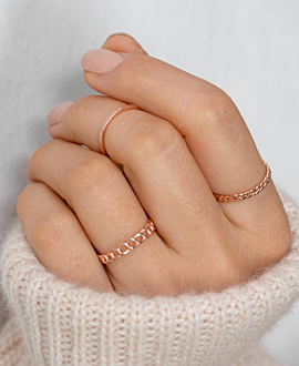 FIGARO CHAIN Ring Rosé