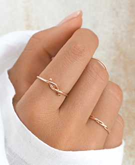 HELIX RING ROSE