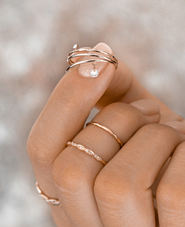 FLYING TOPAZ   Ring Rosé