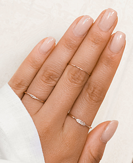 TOPAZ ROW  Ring Rosé
