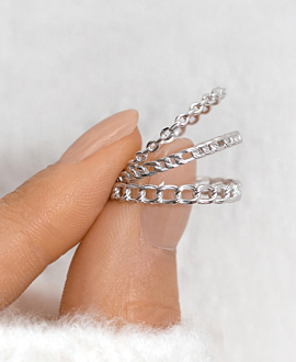 FIGARO CHAIN RING SILVER