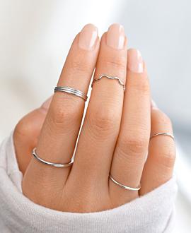 WAVY Ring Silber