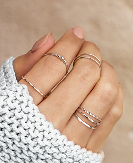 STUD Ring Silber
