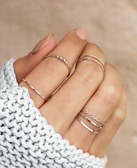 SERENITY Ring Silber