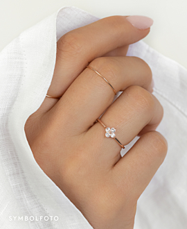 TOPAZ POPPY  Ring Silber