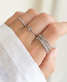 EVIL EYE  Ring Silber