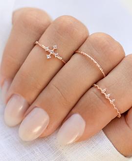 CROSS TOPAZ  Ring Rosé