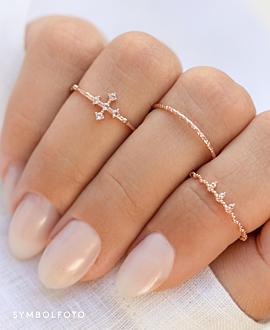CROSS TOPAZ  Ring Silber
