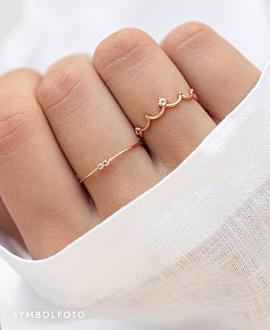 CROWN  Ring Silber