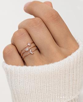 MOONLIT SKY  Ring Silber