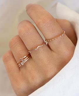 WAVY TOPAZ  Ring Rosé