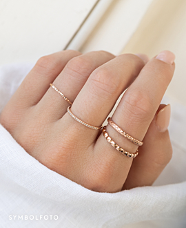 BRAIDED  Ring Silber