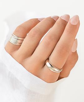 AMATA  Ringset Silber