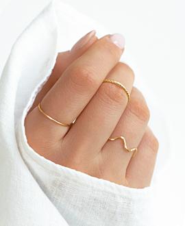 WAVY  RING GOLD