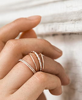 DIAMOND Ring Set  14K Roségold