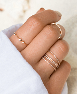 MEMOIRE RING SET  14K ROSE GOLD