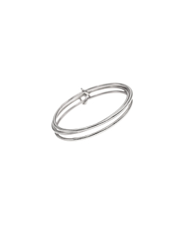 SMOOTH TRIPLET|Ringset Silber