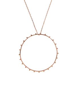 CIRCLE Halskette Rosé