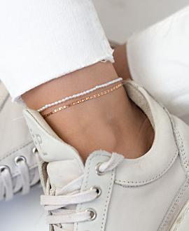 TINY PEARLS  Fußband Weiß