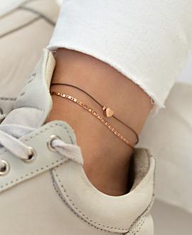 TINY HEART  Fußband Taupe