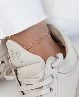 PRECIOUS  Fußkette Rosé